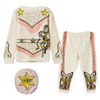 Stella McCartney Kids Cream Andrea Cowgirl Pyjamas_ステラマッカートニーキッズ_ステラマッカートニー個人輸入_アレックスアンドアレクサ